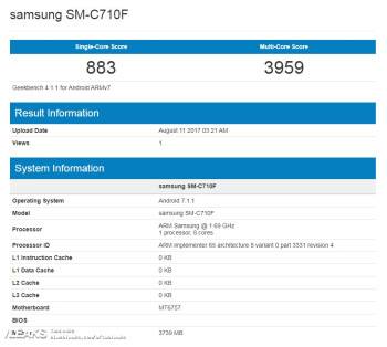 Samsung Galaxy C7 spotted on Geekbench