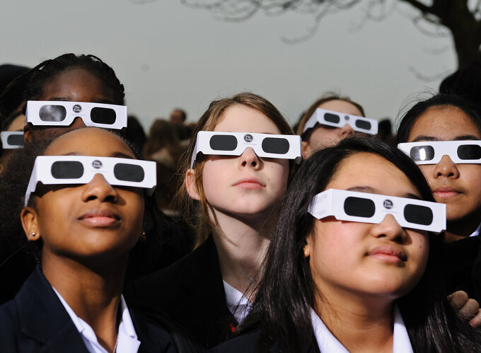 First order of business - get some certified solar shades for yourself, from the AAS list of approved vendors below - How to watch and take pictures of the solar eclipse with your phone camera