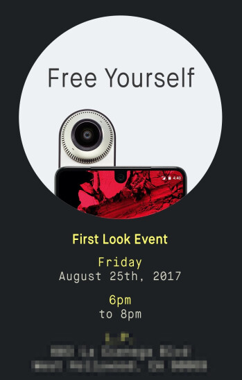 "The Essential Phone will be showcased at a ""First Look"" event on August 25"