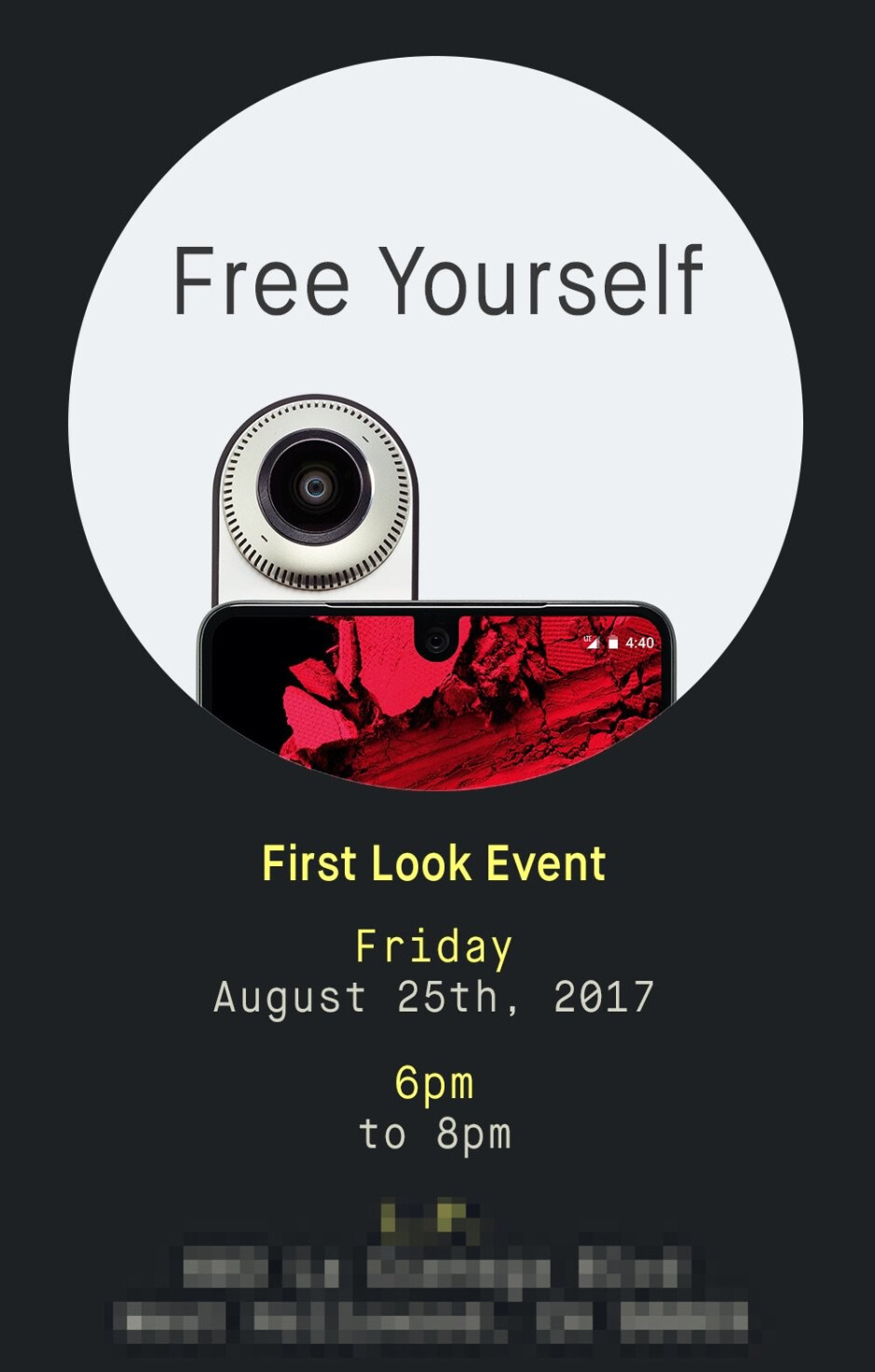 """The Essential Phone will be showcased at a """"First Look"""" event on August 25"""