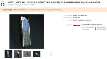 Vertu auctioned most of its luxury phones, but they remained expensive