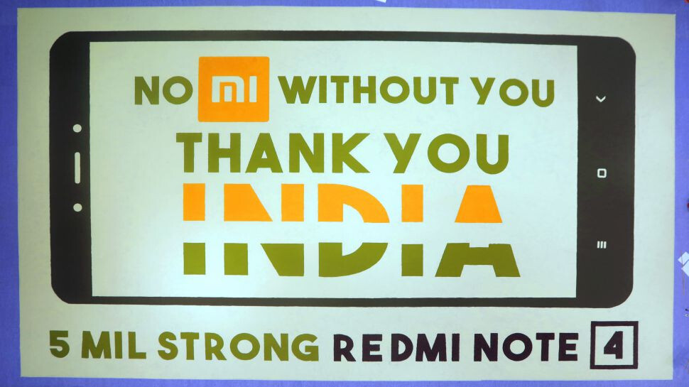 While Xiaomi reveals that 5 million Redmi Note 4 units have been sold in India...