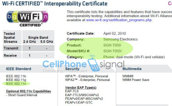 Wi-Fi 802.11n for T-Mobile's Samsung T-959?