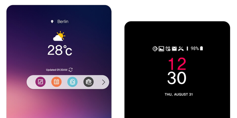 """This is LG V30's new ticker """"display"""""""