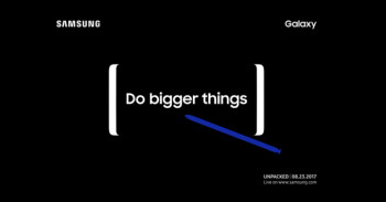 """Samsung teases the Note 8 event with a """"Do bigger things"""" video"""