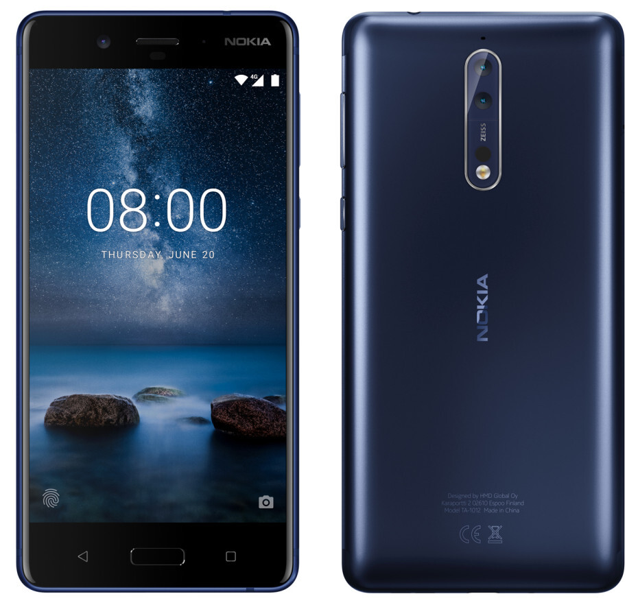 The Nokia 8 in dark blue. Image courtesy of Evan Blass/Venture Beat - The Nokia 8 announcement is today. Here are the specs, features and images we have so far