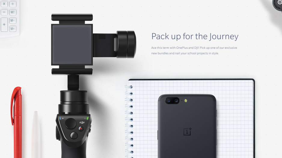 OnePlus 5 back to school promos - OnePlus back to school promo brings bundles with OnePlus 5, DJI drones and stabilizers