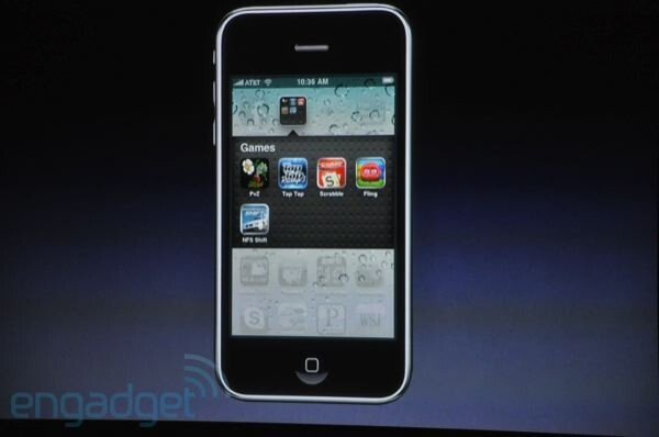 Folders - First look at Apple iPhone OS 4