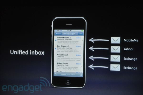 Unified inbox - First look at Apple iPhone OS 4