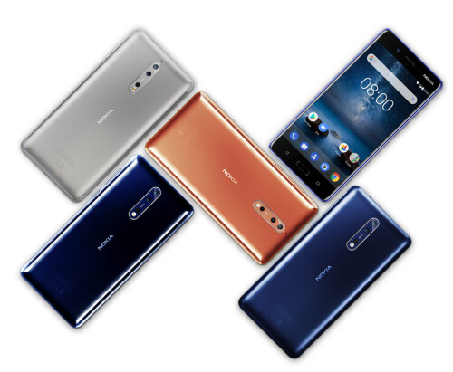 The Nokia 8 in pictures