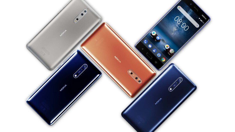 Nokia 8 colors - Polished Blue, Polished Copper, Tempered Blue and Steel - Nokia 8 specs review: more than meets the eye or just another flagship?