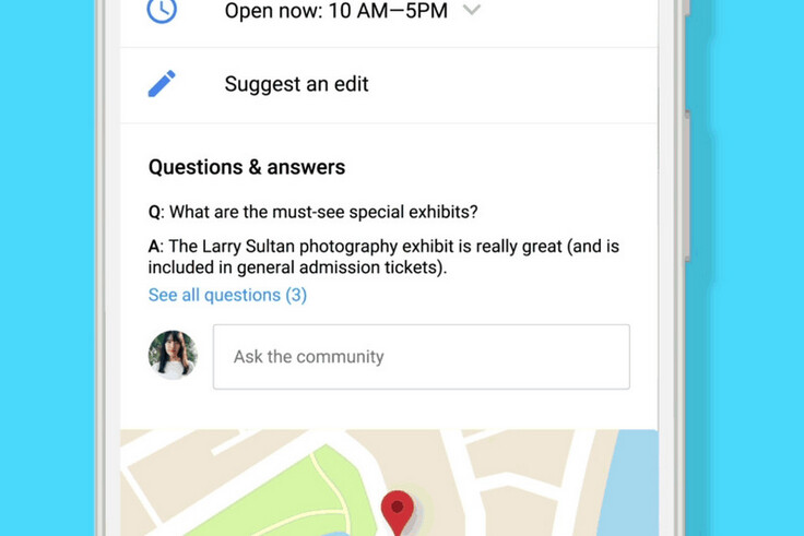 Q&A is rolling out right now to Google Maps for Android and mobile Search - Q&A added to business listings on Google Maps for Android, and mobile Search