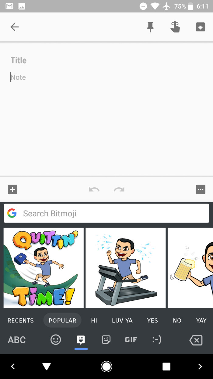 Gboard 6.5 coming soon with Bitmoji and sticker integration