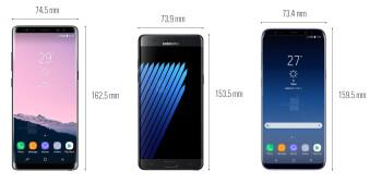 Note 8 vs Note 7 vs Galaxy S8+