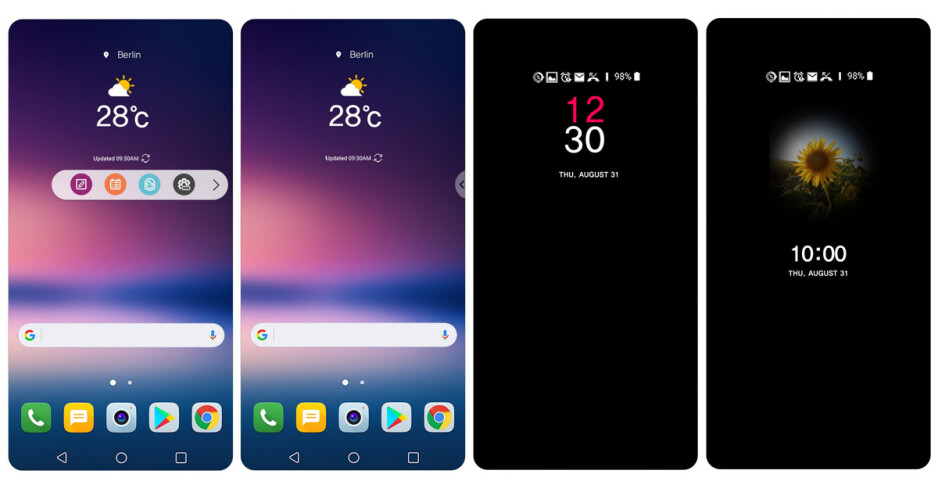 The floating bar and the always-on display on the LG V30 - LG V30 rumor review: design, specs, price, release date, and all we know so far
