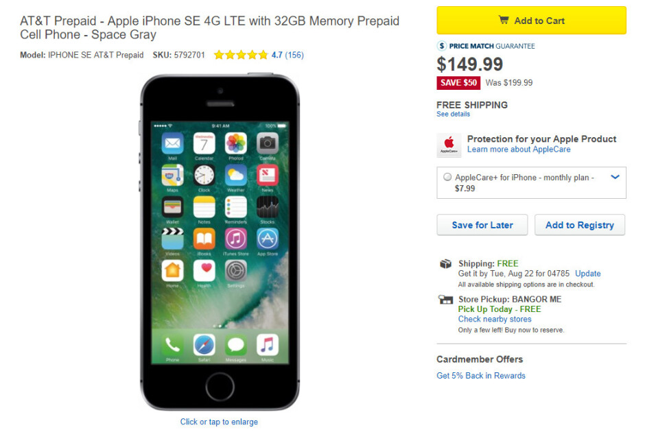 Deal: Grab the iPhone SE 32GB with AT&T prepaid service for just $149.99