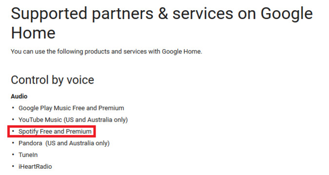 The free ad supported tier of Spotify is now supported on the Google Home smart speaker - Google Home will now work with the free ad supported tier of Spotify