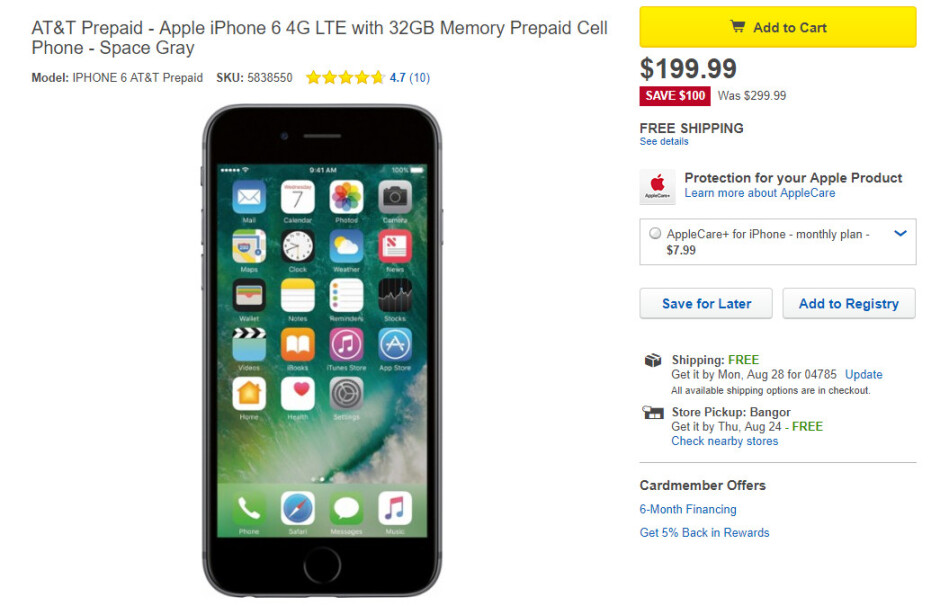 Deal: Get the 32GB iPhone 6 with AT&T prepaid service for $199.99