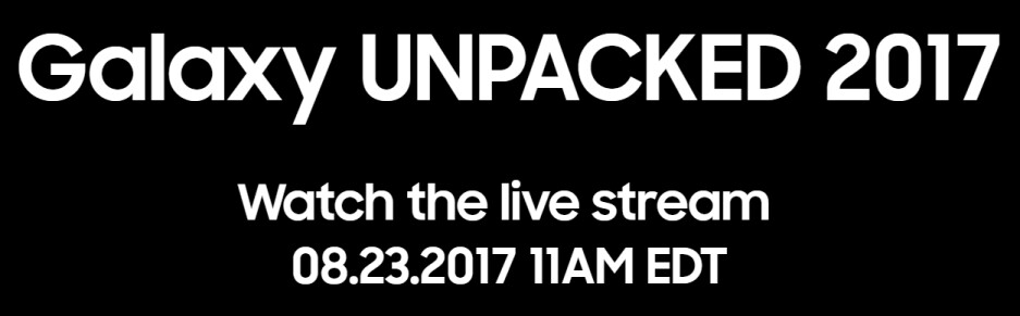 """Watch the Samsung Galaxy Note 8 """"Unpacked"""" event livestream right here!"""