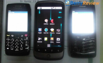 From L to R-Pearl 9100, Nexus One, Pearl 9105