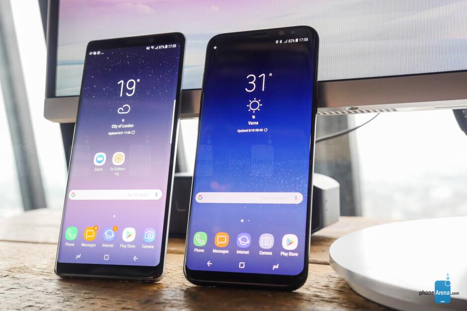 Samsung Galaxy Note 8 vs Galaxy S8+ first look: big vs bigger