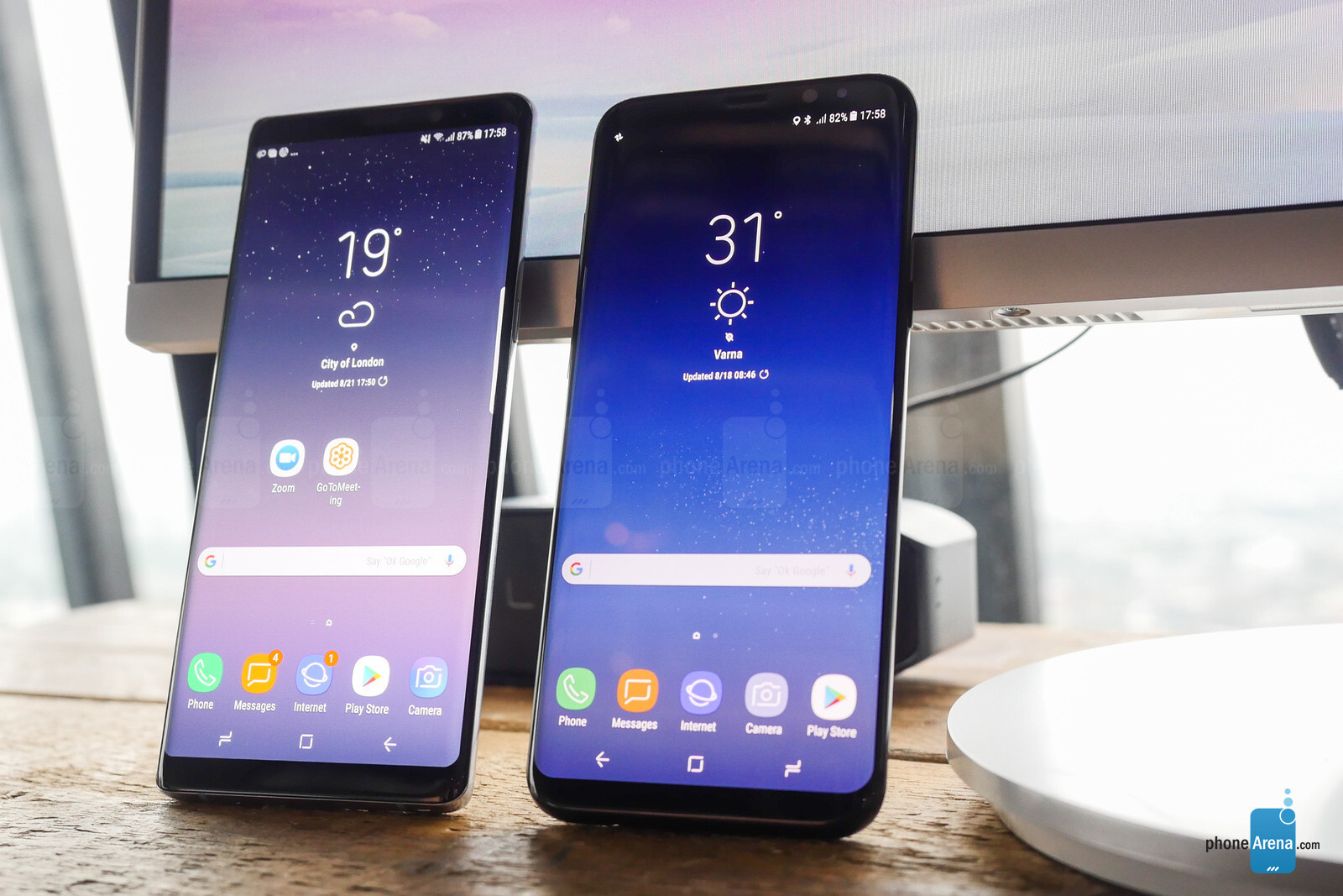 samsung galaxy note 8 vs galaxy s8 phonearena. Black Bedroom Furniture Sets. Home Design Ideas