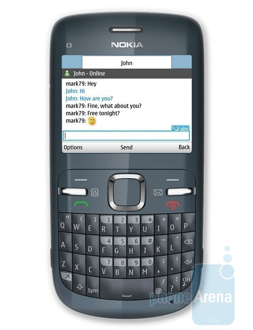 Nokia C3 is an affordable phone for social networking - Nokia introduces C3, C6 and E5 messaging solutions