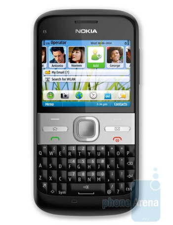 Nokia E5 is a messaging solution for business users