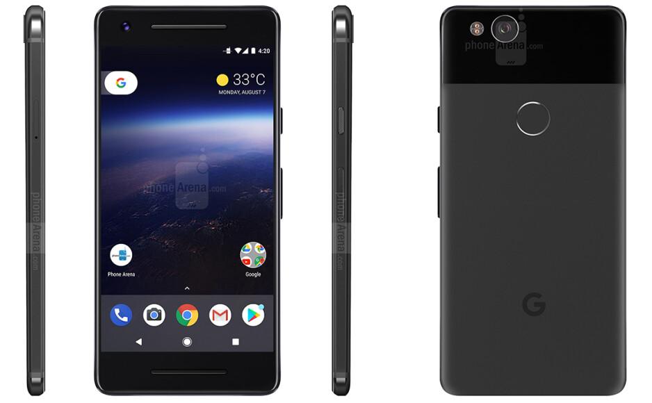 Google Pixel 2 - render based on rumors - Google Pixel 2 series to be announced on October 5, Snapdragon 836 CPU inside