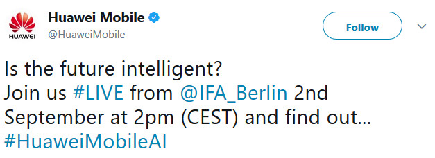 Huawei will talk about AI at IFA on September 2nd - Will Huawei discuss its AI-centered superphone on September 2nd at IFA?