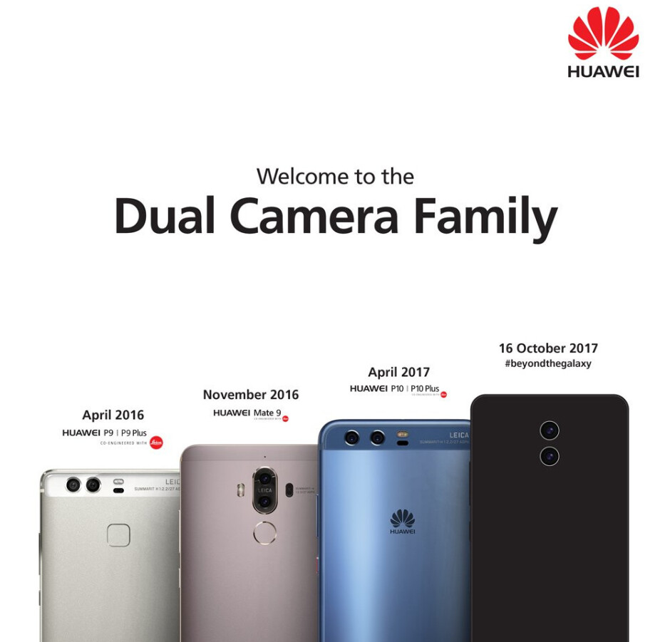 Huawei teases us with first Mate 10 picture, confirms October 16 unveiling
