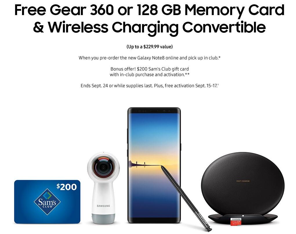 Samsung galaxy note 8 free gift