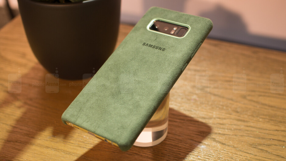 This is the official Galaxy Note 8 Alcantara case and it's... different