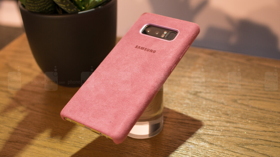 The Galaxy Note 8 Alcantara case comes in four different colors - This is the official Galaxy Note 8 Alcantara case and it's... different