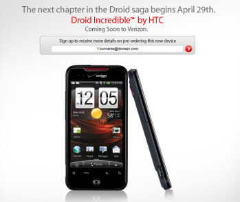 First official photo of the HTC Droid Incredible for Verizon Wireless