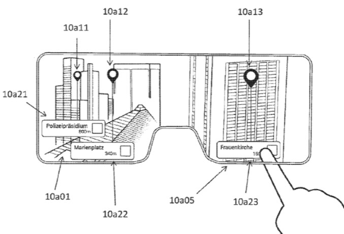Earlier this year, a patent application filed by Apple included this sketch of what Apple's smartglasses might look like from the wearer's point of view - Analyst sees Apple's AR smartglasses becoming bigger than Apple Watch, just as big as the iPad