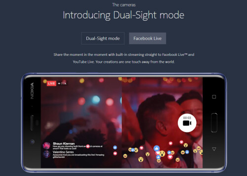 Dual Sight mode with live streaming
