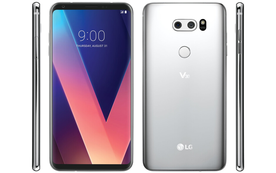 A leaked V30 official render, courtesy of Evan Blass - LG V30 gets pictured up close and personal, shows off sleek curved design