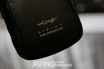 'SIRIUS' expected to be the first Android powered handset from Pantech