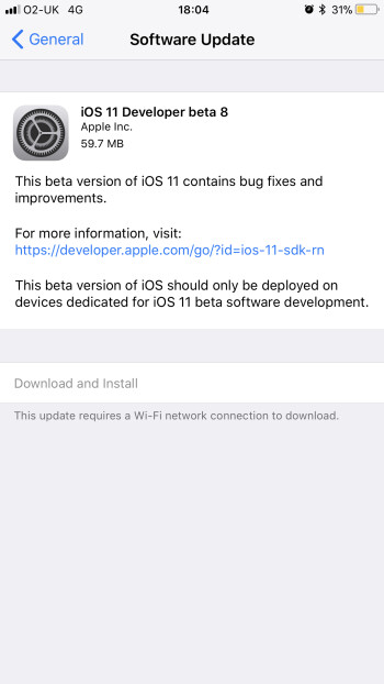 iOS 11 Developer Beta 8 / Public Beta 7: Here's what's new
