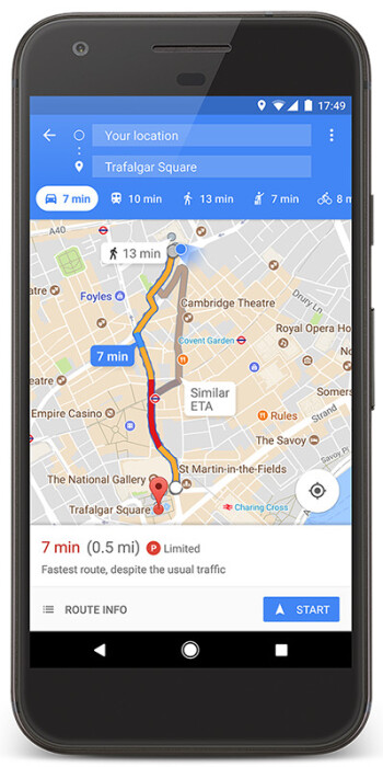 Maps Gains New Parking Features Difficulty Icons In Cities - Will my us android use google maps in copenhagen