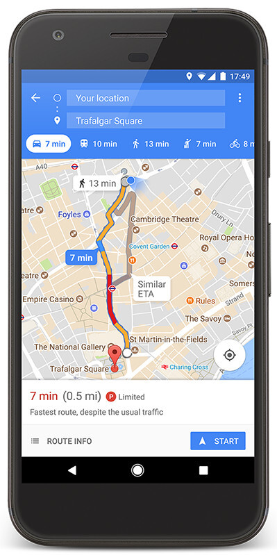 Google Maps gains new parking features, difficulty icons in 25 cities outside the U.S.