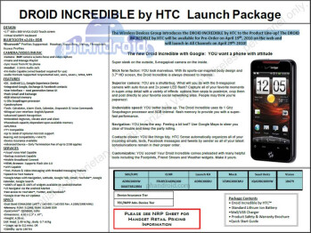 UPDATED: Verizon to offer HTC Droid Incredible Pre-Orders starting the 19th