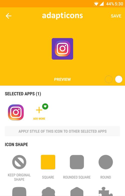 Customizing Instagram's icon