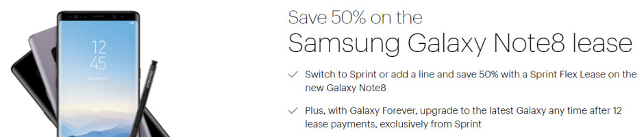 Sprint's half-price Note 8 offer is the best deal yet