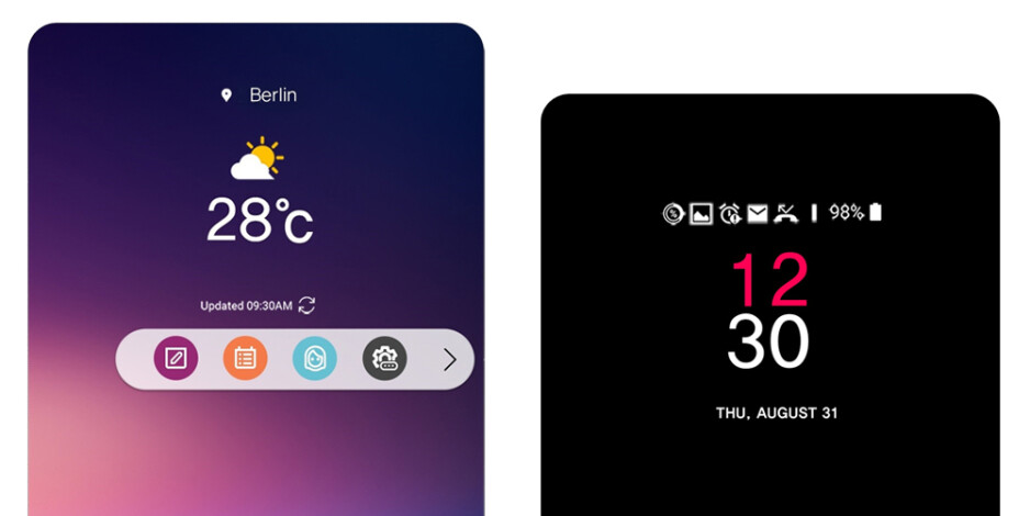 The ticker screen may be no more, but it's been superseded by two software solutions - LG V30 goes official: stunning bezel-less design and high-end audio in one powerful package