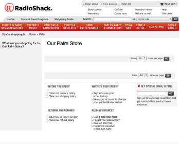 RadioShack dumps its webOS inventory?