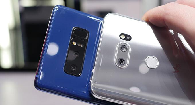 Samsung Galaxy Note 8 vs  LG V30: quick camera comparison