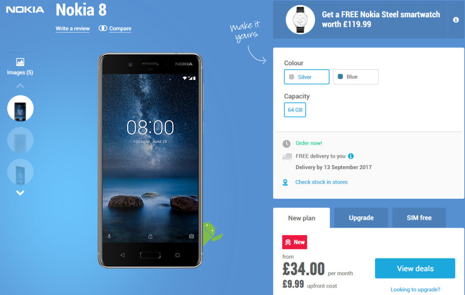 Nokia 8 pre-orders in the UK come with free smartwatch