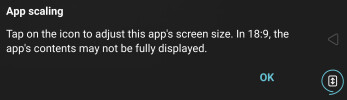 App scaling is a nice option, but it's never as good as having the content natively scale to your screen's aspect ratio